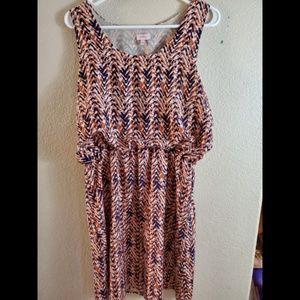 Pixley Stitch Fix Marie Chevron Paisley Boho Dress